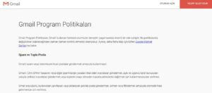 gmail politikaları