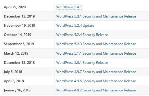 Wordpress Güvenlik Güncelleştirmesi