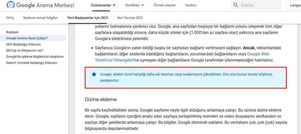 Google İlk Sayfa Garantisi